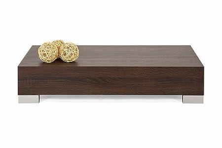 mobilifiver iCube 90mesa auxiliar de salón, madera, roble Moro, 90x 60x 18cm