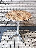 チーク材ガーデンテーブル 丸 直径70cm