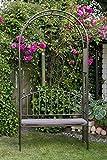 gartenlaube avis laube mit sitzbank rosenbogen. Black Bedroom Furniture Sets. Home Design Ideas