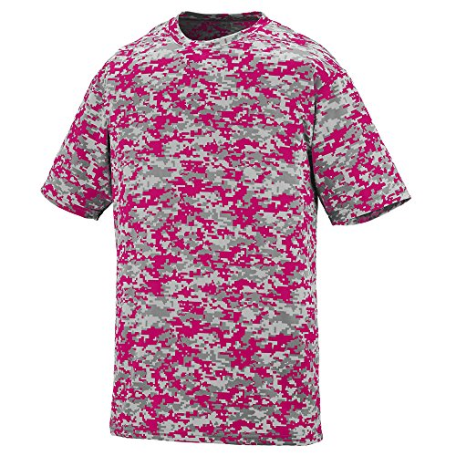 BOYS' DIGI CAMO WICKING T-SHIRT Augusta Sportswear L Power Pink Digi