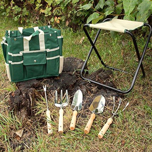 Gardenhome 7 Piece All In One Garden Tool Set Heavy Duty