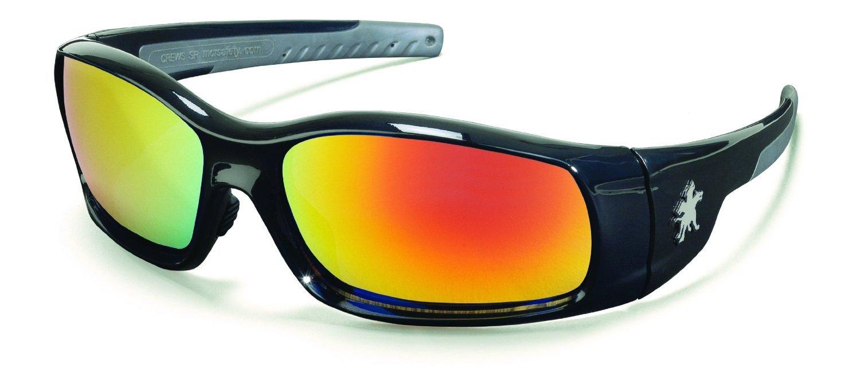 Crews SR11R Swagger Safety Glasses Black Frame w/Fire Mirror Lens (12 Pair) laser safety glasses 190 540nm