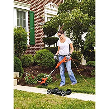 BLACK+DECKER MTE912 6.5-Amp Electric 3-in-1 Trimmer/Edger and Mower, 12