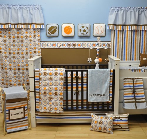 Mod Sports Blue 6pc Crib Set
