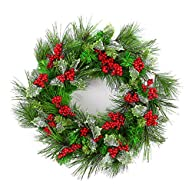 Naice PVC Pine Tips Christmas Wreath…