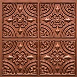 """Discounted Victorian Faux Copper Plastic Ceiling Tiles #205 PVC 24""""x24"""" with Overlaping Edges Ul Rated,class A.glue On,nail On,tape On,staple On!"""
