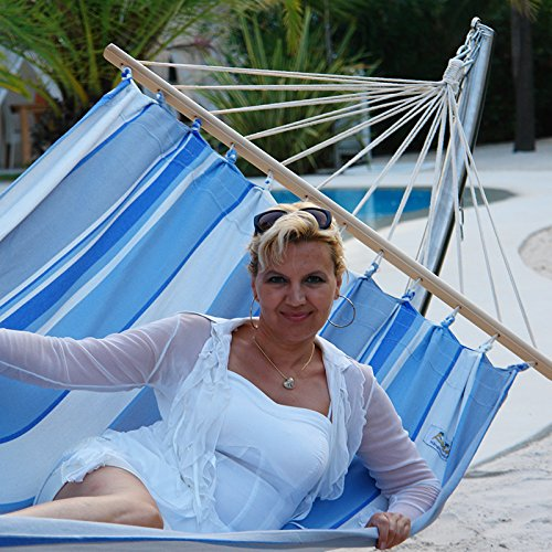 Lola Jamaica marine XXL Doppel-Stabhängematte günstig