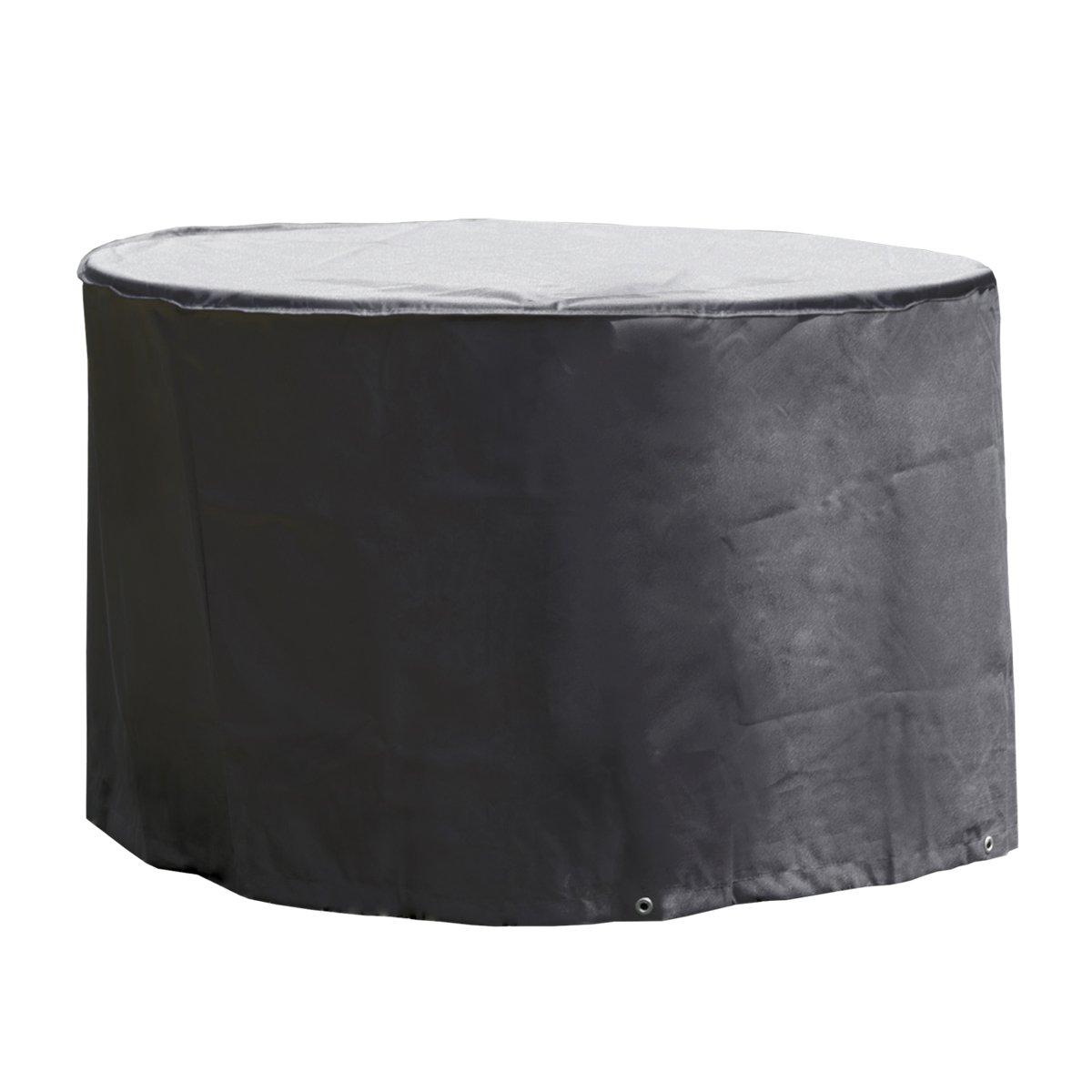 Verschiedene Gartenmöbel Schutzhüllen aus Oxford Polyester 420D für Strandkorb, Ampelschirm, Sonnenschirm, Gartenstuhl, Gartentisch, Sitzgruppe (Gartentisch Ø 125x83cm)