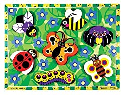 Melissa & Doug Insects Wooden Chunky Puzzle