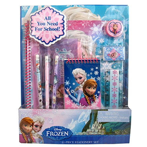 Disney Frozen Elsa and Anna 11 Piece School Supply Notebook Pencil Set