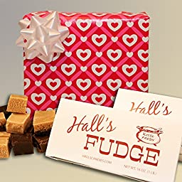 Love\'s First Kiss Gift Box, 2 Pounds Hall\'s Chocolate Fudge