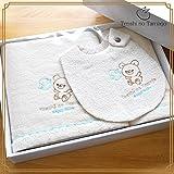 Amazon.co.jp(Tenshi no Tamago)天使の卵 オーガニックコットンバスタオルセット ~エンジェルベビー~ (ABSET002)
