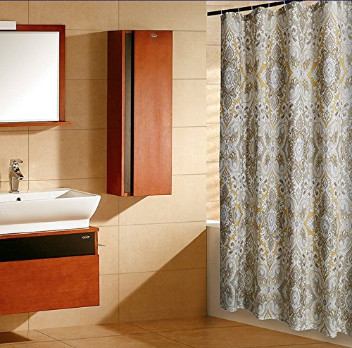 "Shower Curtain X Long Extra Long Set Paisley 72"" x 78"