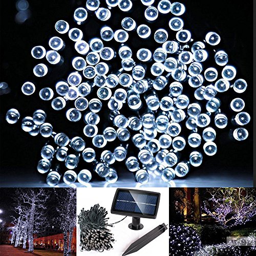 Solarmks DC-1200 Solar String Lights Outdoor 72ft 200 Led Solar Christmas Lights White (Large Solar Outdoor Light compare prices)