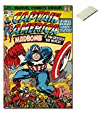 Bundle - 2 Items - Marvel Comics Captain America Cover Poster - 91.5 x 61cms (36 x 24 Inches) and Small Block Of White Tack