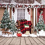 AIIKES 10X10FT Christmas Theme Pictorial Cloth Customized Photography Backdrop Background Studio Prop 10-280 (Color: Xmas Backdrop 10-280, Tamaño: 10X10FT)