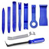 GLK Car Door Clip Panel Trim Removal Tool Kits Pry Tool for Car Dash Radio 9pcs blue (Color: blue, Tamaño: 9pcsblue)