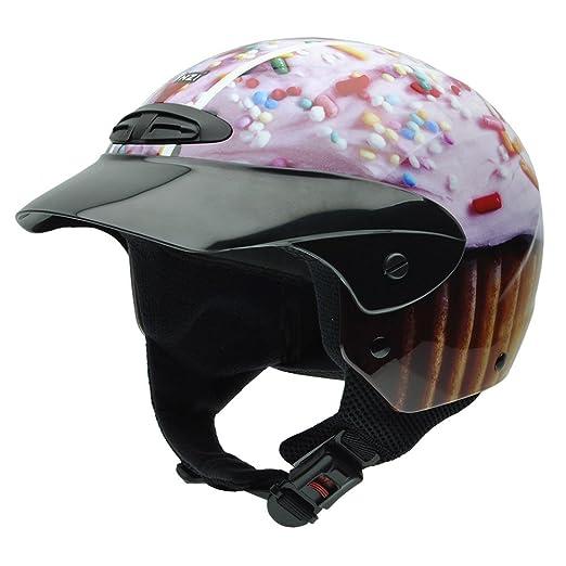 NZI 050272G708 Single II Jr Graphics Cupcake, Casque de Moto, Taille S Multicolore