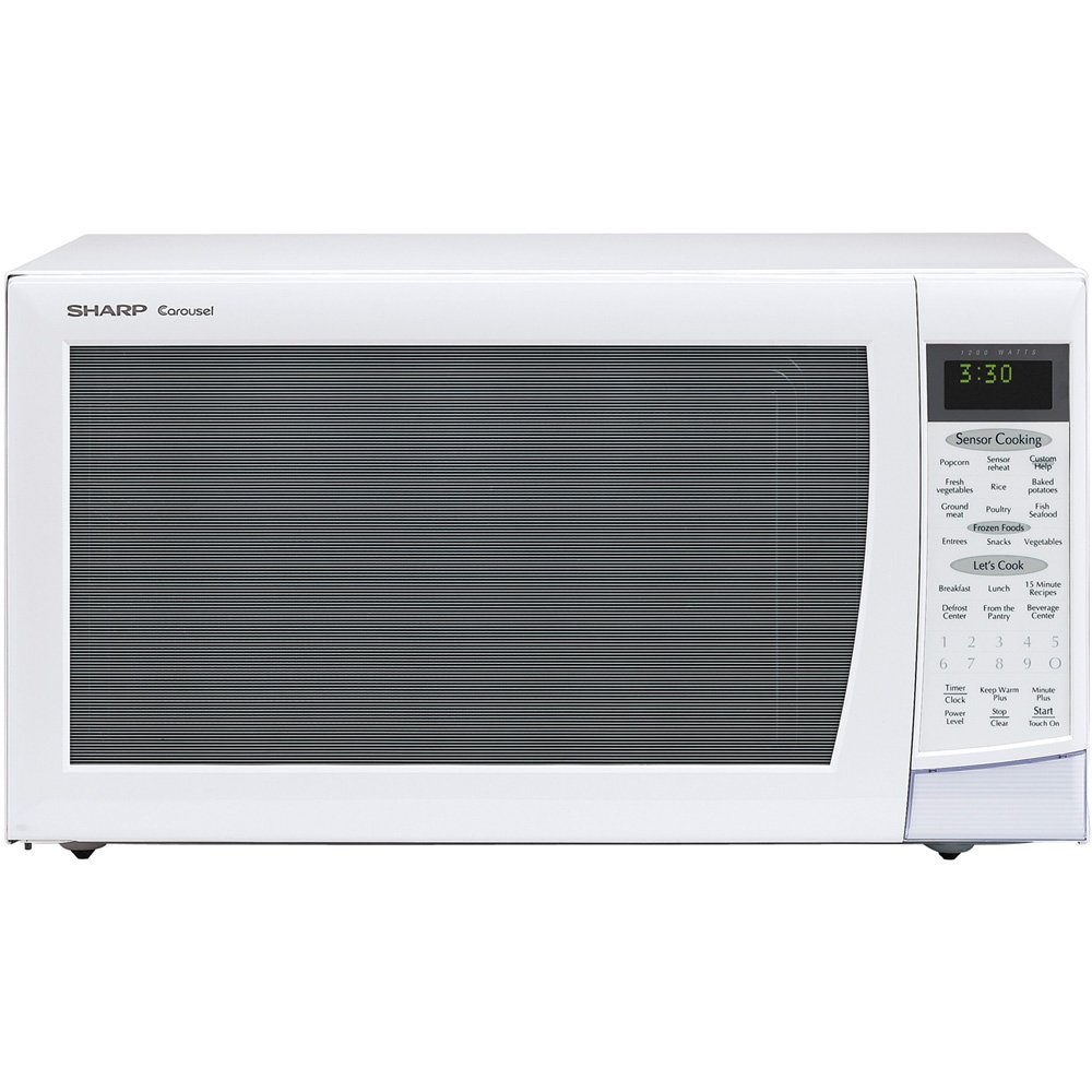 Sharp 2.0 cu ft/1200w Microwave in White