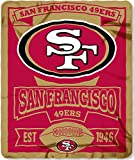 NFL San Francisco 49ers Marque Printed Fleece Throw, Red, 50 x 60″