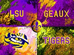 LSU Painting - Warhol LSU Logo