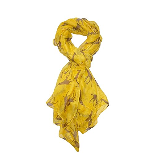 Beautiful and Comfortable Giraffe Print Scarf - Gold