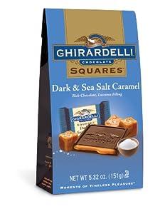 Ghirardelli Dark & Sea Salt Caramel, 5.32 Oz, Pack Of 12