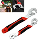 FAMI Adjustable Wrench,Adjustable Spanner, Universal Wrench,Quick Multi-function,New Snap'N Grip 9-32mm 2 packs (Color: Red and Black)