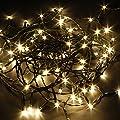 Neu 60/80/100 St�ck LEDs LED Solar Licht Lichterkette Leuchte Au�en f�r Weihnachtsbaum Hochzeiten Geburtstage oder jede Feier - (Solar 10M 80 LED Warmwei�)