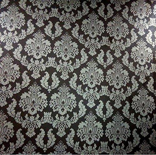 Neespl 010108 Non Woven Vinyl Wallpaper Roll ( Black Color ) - 57 Sq feet Area ( Length = 10.05 M , Width = 0.53 M , 210 Gsm )