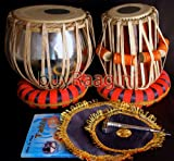 MAHARAJA Student Tabla Drum Set, Steel Bayan, Finest Dayan with Book, Hammer, Cushions & Cover (PDI-IB)