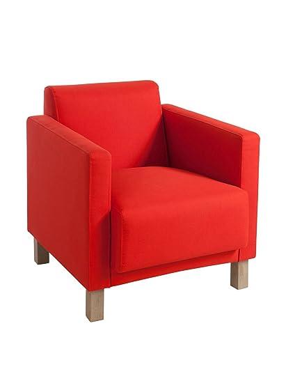 Fauteuil Moderne Rouge 70X75X70Cm