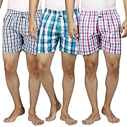 Inspire Assorted Pack Of 3 Men's Boxers (Large)