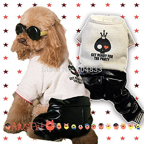 WeMore(TM)Cool dogs disco costume pets doggie party cosplay jumpsuit clothes pet festival products (Adorable Dog Costumes)