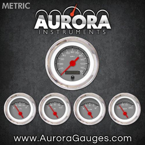 Aurora Instruments (GAR129ZMXQABAE) Competition Gray 5-Piece Gauge Set