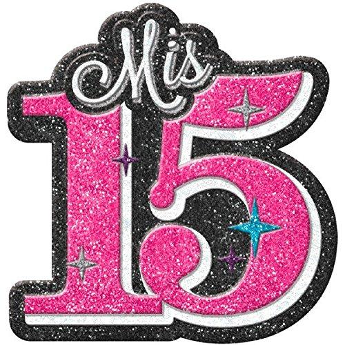 Elegant Mis Quince Au00f1os Glitter Cutout Birthday Party ...