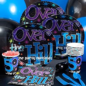 Over the hill 50th birthday party pack toys for 50th birthday decoration packs