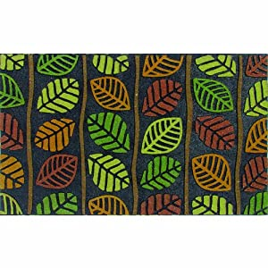 Apache Mills 60-921-0801 Retro Leaves Door Mat, 18-Inch by 30-Inch