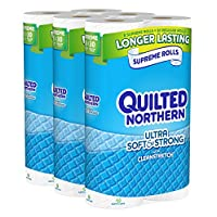 Quilted Northern Ultra Soft and Strong Bath Tissue, 24 Supreme Rolls Toilet Paper
