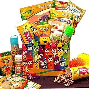 Amazon com holiday creative kids activity and snacks gift basket