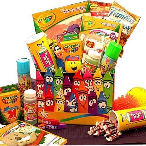 Creative Kids Activity and Snacks Gift Basket For Children