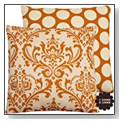 Orange Creamsicle Boutique Pillow Covers