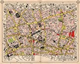 LONDON. Clerkenwell Holborn City Old Street Hoxton Moorgate Smithfield, 1953 map