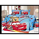 Cars - Blue Red - Boys Kids Twin Duvet Set-4 Piece