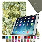 [New Release] Fintie SmartShell Case for Apple iPad Air (iPad 5 5th Generation) Ultra Slim Lightweight Stand (with Smart Cover Auto Wake / Sleep) - Map Design