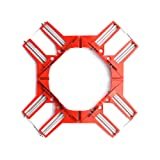 HEWEGO Angle Clamp, 4PCS 90 Degree Corner Clamp, Multifunctional Picture Framing Holder, Woodworking Hand Tools (red) (Color: Red)
