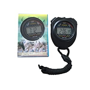 Stopwatch, ZSD-808 Water Resistant, Multi-function Electronic Sports Stopwatch with Time and Alarm by Sportsvoutdooors