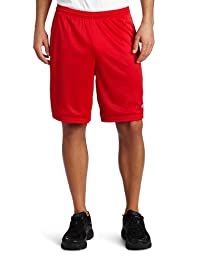 Champion Men\'s Long Mesh Short with Pockets,Crimson,Small