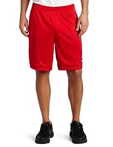 Champion Men's Long Mesh Short With Pockets, Crimson, Medium
