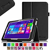 Fintie Toshiba Encore 2 WT10 Folio Case - Premium Leather Stand Cover with Stylus Holder For Toshiba Encore 2 WT10-A32 / A64 10.0-Inch Windows 8.1 Tablet - Black